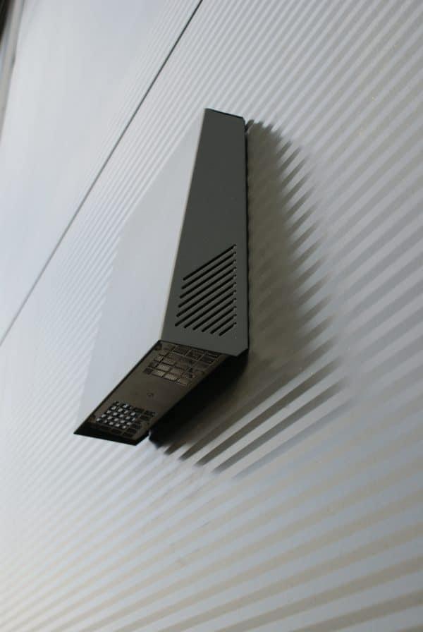 LUNOS Svart Dubbel-K Ytterkåpa, decentraliserad ventilation