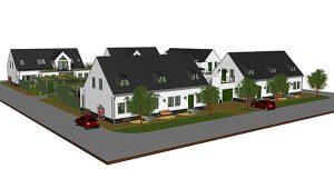 Hus medSkanörs Vångar med Energy Buildings decentraliserade ventilation decentraliserad ventilation