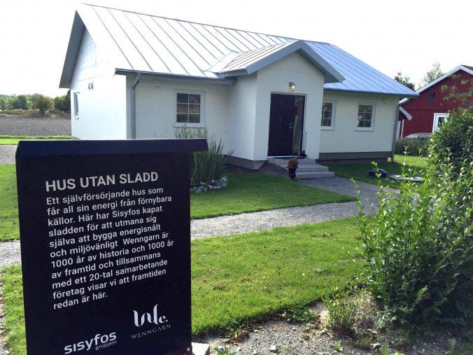 Hus utan sladd decentraliserad ventilation Energy building, fungerar även som visningshus