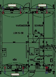 Dimensionering av decentraliserad ventilation med Energy Building