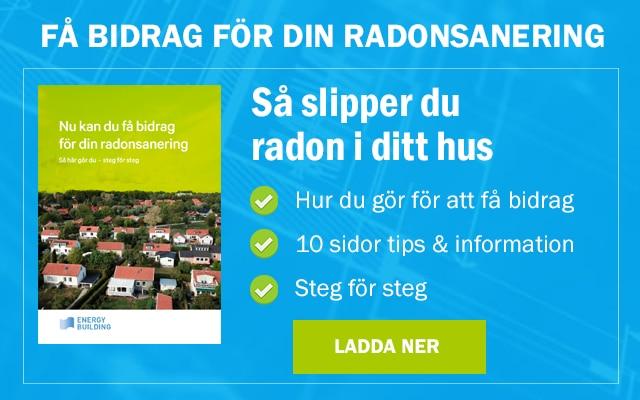 En guide i att få radonbidrag för att minska radon som kommer från  blåbetong