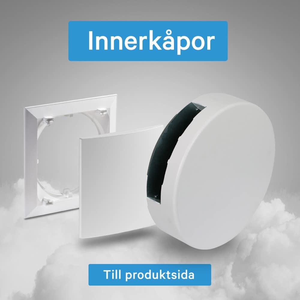 Innerkåpor till Lunos decentraliserad ventilation