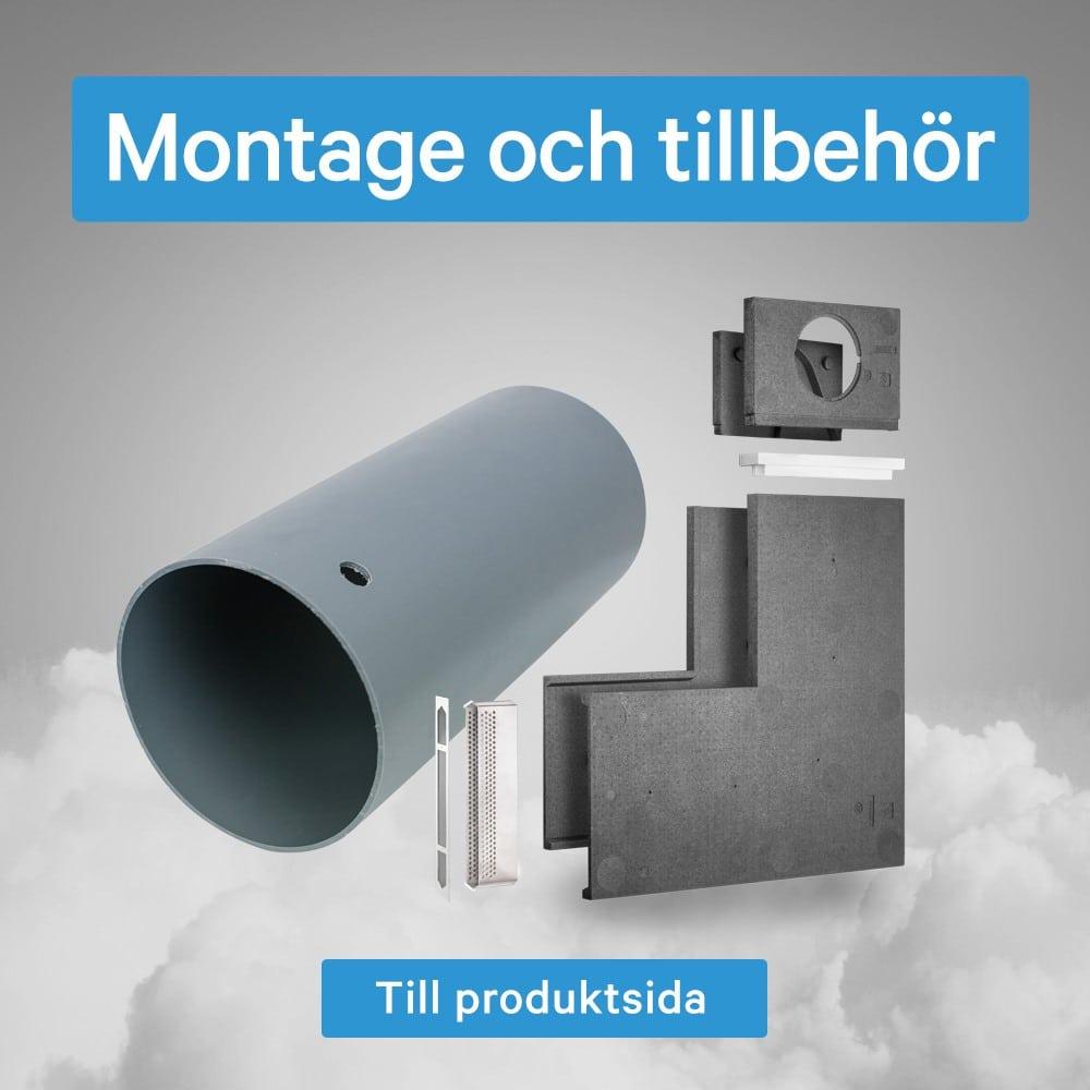 Tillbehör för bra montage av decentraliserad ventilation