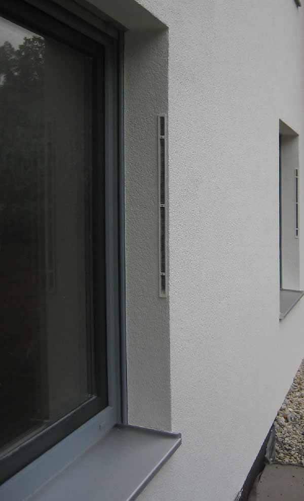 Ett exempel med LUNOTherm fasadelement installerat