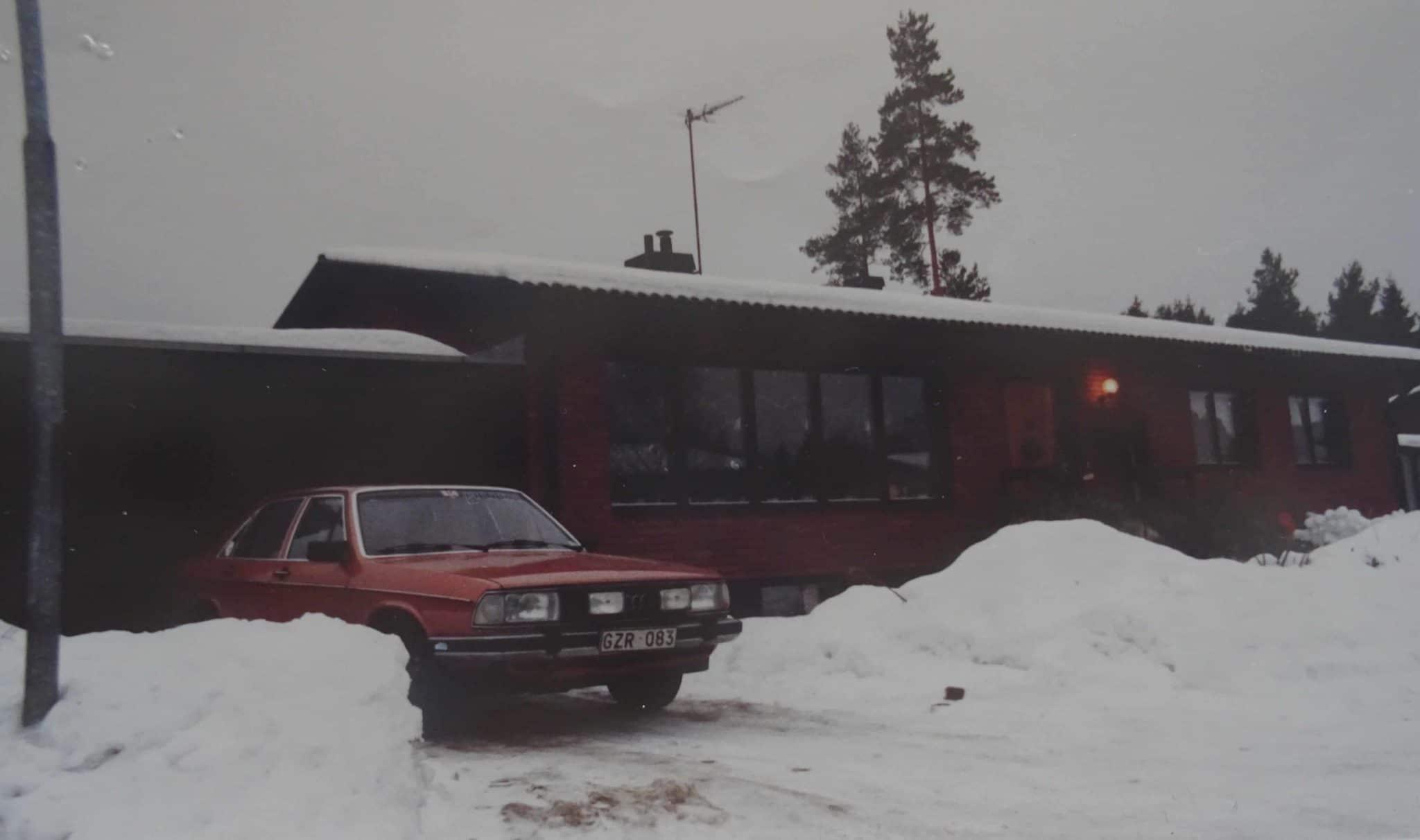 Självdragshus byggt på 70-talets början med Blåbetong