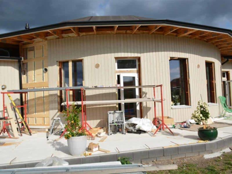 Villa Skönborg off-grid huset med decentraliserad ventilataion från Energy Building