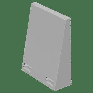 Flexkåpa 160-250 mm rör för ventilation decentraliserad såväl som centralventilation RAL9006