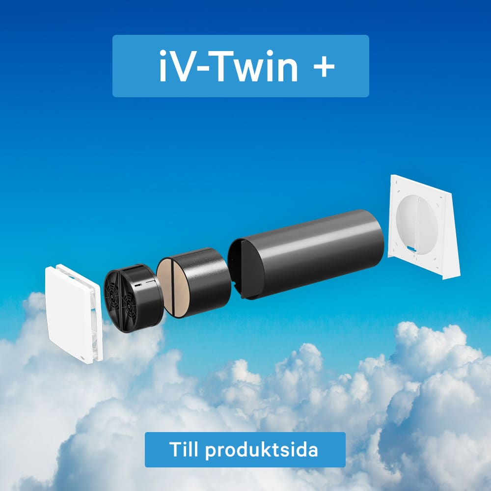 iV Twin+ en rumsventilator