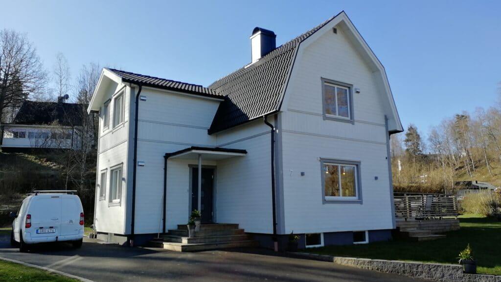 Villa med förbättrad ventilation iV Smart + från energy Building samt Fresh frånluftsfläkt