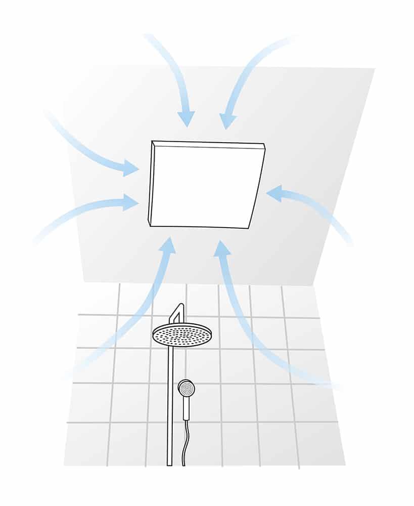 Badrumsfläkt typ paxfläkt, frånluftsfläkt badrum